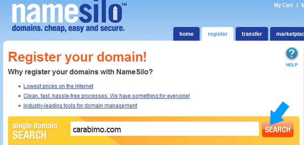 Sewa Domain di Namesilo