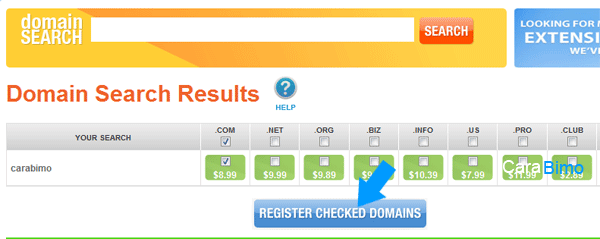 Register Cheked Domain