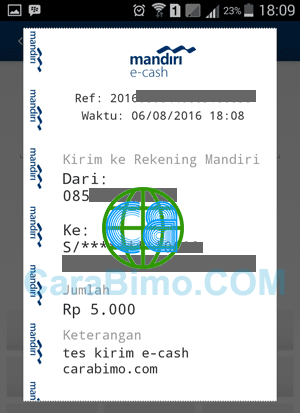 PIN mandiri e-cash