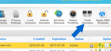 Cara Push Atau Memindahkan Kepemilikan Domain di Namesilo