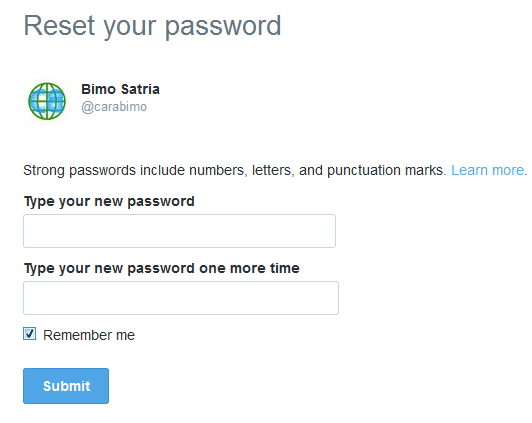 Lupa Password Twitter