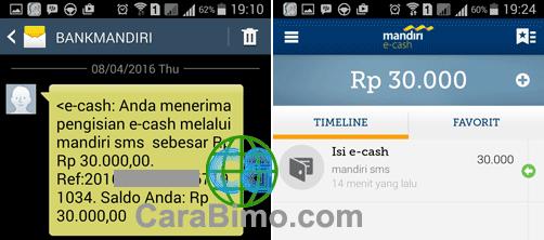 Cara Daftar dan Mengisi Saldo Mandiri e-cash