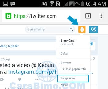 Cara Menghapus Akun Twitter Lewat HP Android Selamanya