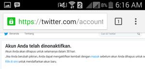 Cara Menghapus Akun Twitter Permanen Lewat HP Android dan PC