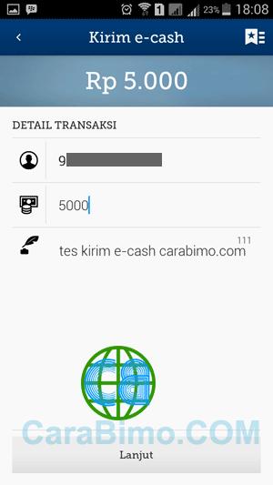 Kirim Saldo E-cash