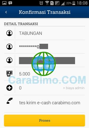 Kirim Saldo E-cash Ke Rekening Mandiri
