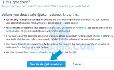 Cara Menutup Akun Twitter Lewat PC