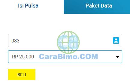 Cara Isi Ulang Pulsa XL atau AXIS Online di Isipulsa.xl.co.id