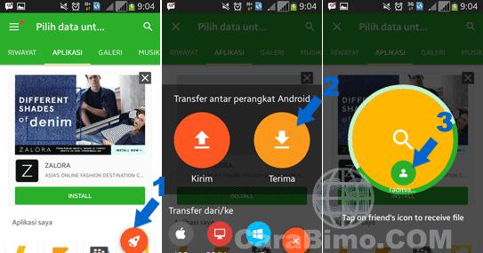 Cara Menggunakan Xender Untuk Transfer ke Sesama Android