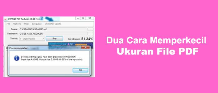 Cara Mudah Memperkecil Ukuran File Pdf