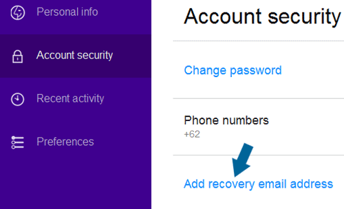 dd recovery email address