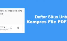 Daftar Situs Untuk Kompres File PDF Online