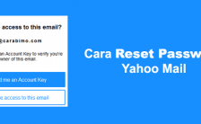Dua Cara Reset Password Yahoo Mail Yang Lupa