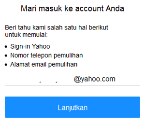 Panduan Cara Reset Password Yahoo Mail Yang Lupa