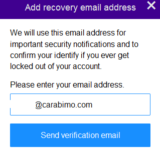 Send verification email
