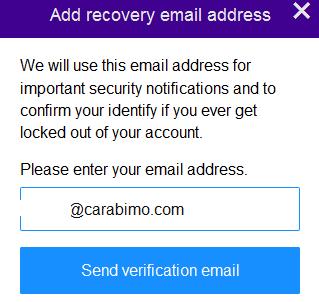 Send verification email