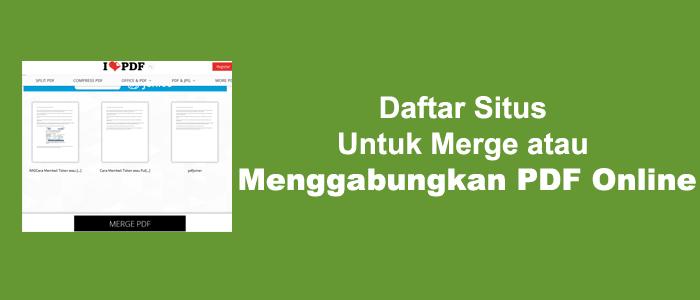 Daftar Situs Untuk Merge atau Gabungkan PDF Online
