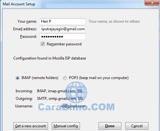 Cara Mengakses Akun Gmail Lewat Mozilla Thunderbird