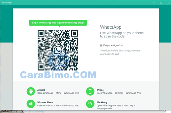 Membuka WhatsApp di PC