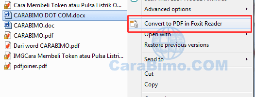 Convert to pdf in foxit reader