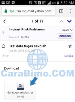 Cara Mendownload File Lampiran Yahoo Mail Dari HP