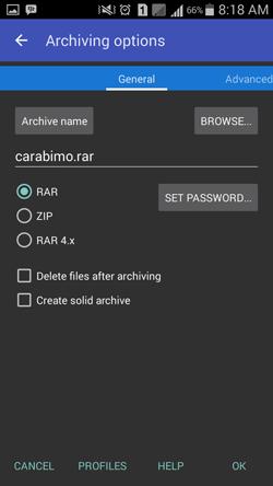 Cara Kompres Folder di HP Android Dengan RAR