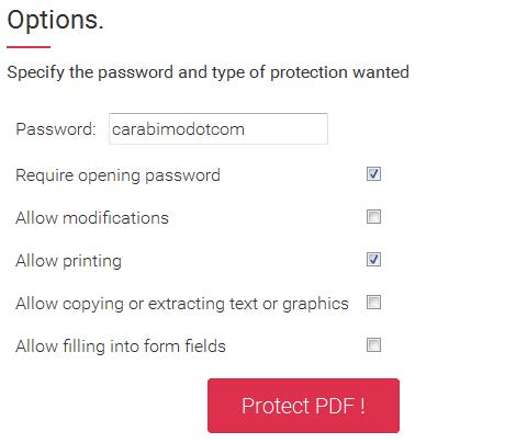 Cara Mengunci File PDF Secara Online