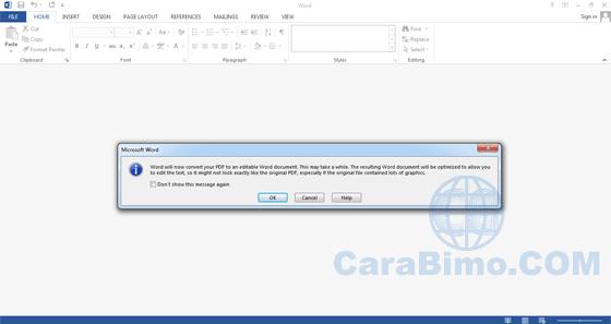 Cara Edit File PDF Dengan Word 2013-2016