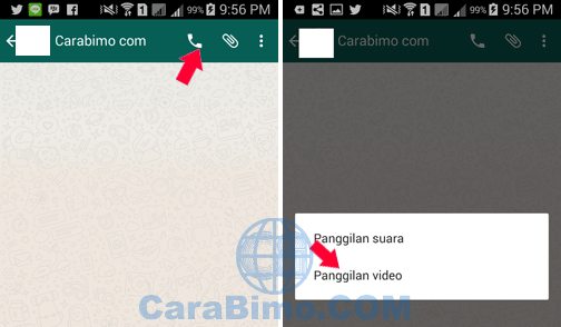 Cara Video Call WhatsApp Android