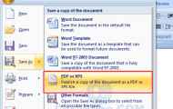 Cara Menyimpan Excel, Word Ke PDF Di MS Office 2007