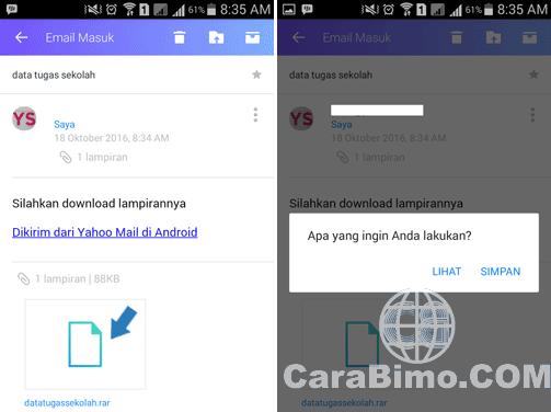 Aplikasi Yahoo Mail Android