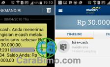 Bagaimana Cara Menerima Uang Lewat e-Cash Mandiri?