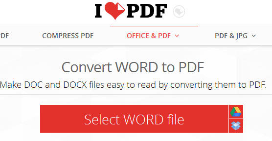 Kumpulan Situs Online Untuk Mengubah File MS Word ke PDF