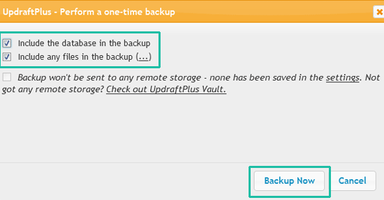 Cara Backup WordPress Dengan Plugin UdraftPlus