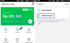 Cara Kirim Saldo Line Pay e-cash Ke Rekening Mandiri