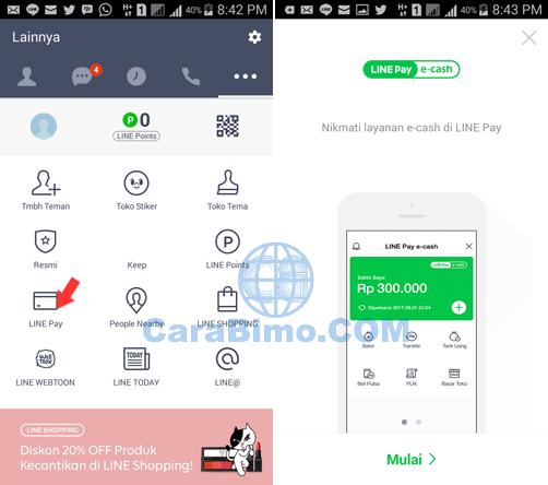Cara Mengaktifkan LINE Pay e-cash