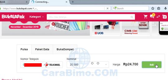 Cara Beli Pulsa Murah Di Bukalapak.com
