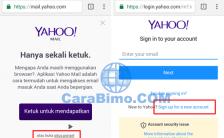 Cara Daftar Akun Yahoo Baru Lewat HP Android - Melalui Web Browser