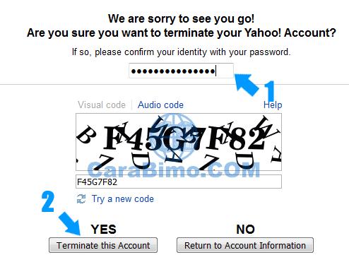 Cara Menghapus Akun Yahoo Mail Secara Permanen