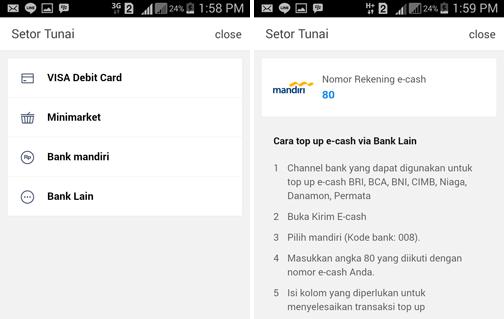 Cara Isi Saldo LINE Pay e-cash