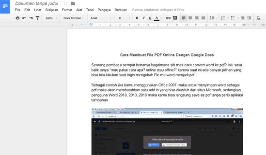 Membuat File PDF Online