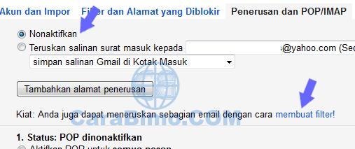 Cara Forward Email Tertentu di Gmail - Otomatis