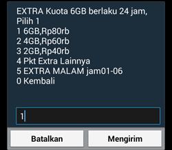 paket extra 6GB