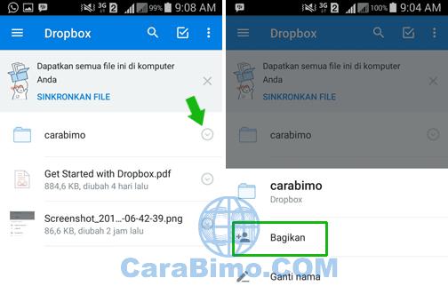 Bagaimana Membagikan Link DropBox Agar File Bisa Dilihat Orang Lain?