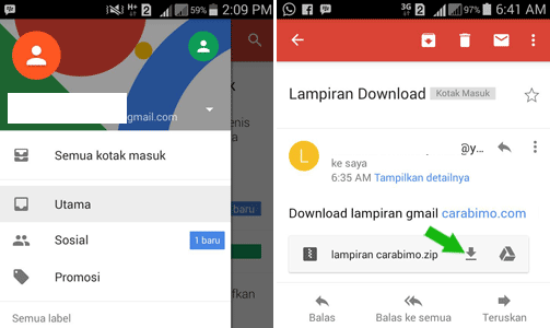 Cara Mendownload File Lampiran Gmail di HP Android