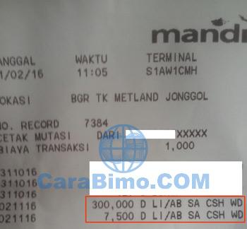 Bukti Penarikan Uang di ATM Saldo Berkurang Tetapi Uang Tidak Keluar