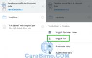 Cara Upload File Ke DropBox Dari HP Android