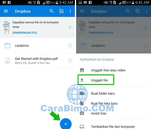 Cara Upload File Ke DropBox Dari HP Android