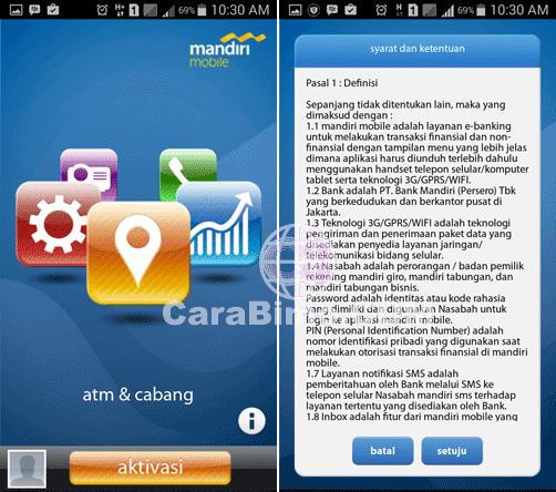 Cara Mengaktifkan atau Aktivasi Aplikasi Mandiri Mobile Pertama Kali