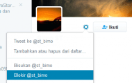 Twitter, Cara Memblokir Pengikut Yang Menganggu